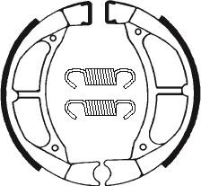 Machoires de frein TECNIUM BA182 organique