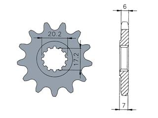 TECNIUM Front Sprocket 12 Teeth 40 Pitch Type AM6 Engines