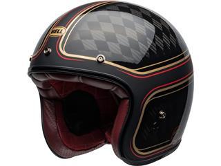 Capacete Bell Custom 500 Carbon RSD CHECKmate Preta/Dourada, Tamanho XL - edee34fe-6430-4b5d-954a-084f2697cac1
