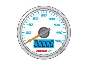 Tachometer Koso D48 Hintergrund weiß GP Style
