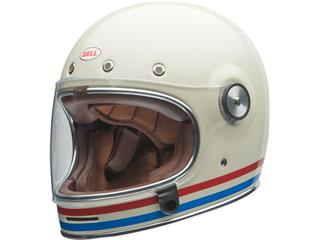 BELL Bullitt DLX Helmet Stripes Gloss Pearl White Size XL