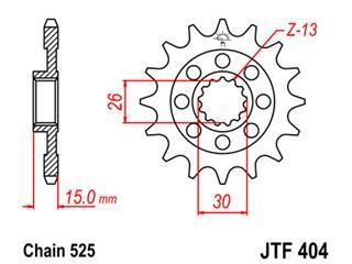 JT SPROCKETS Front Sprocket 17 Teeth Steel 525 Pitch Type 404 BMW S1000RR
