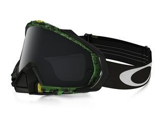 4a66ef552a OAKLEY Mayhem Pro Goggle Distress Tagline Green Dark Grey Lens