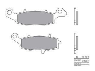 Plaquettes de frein BREMBO 07KA19SA métal fritté - 38800175