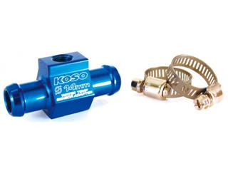 Koso water temperature sensor adapter, Ø14mm hose