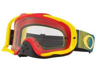 Masque OAKLEY Crowbar Shockwave Red/Yellow/Blue écran transparent