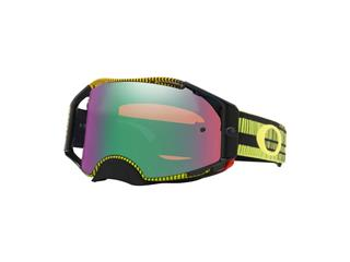 Masque OAKLEY Airbrake MX Frequency Green/Yellow écran Prizm MX Jade Iridium