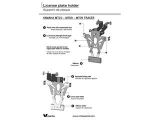 Portamatriculas V Parts MT-09