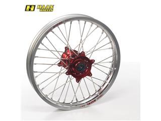 HAAN WHEELS Complete Rear Wheel 19x1,85x36T Silver Rim/Red Hub/Silver Spokes/Silver Spoke Nuts