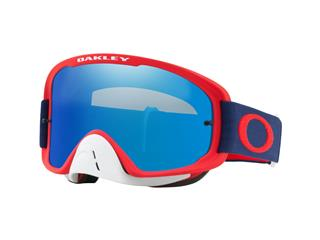 OAKLEY O Frame 2.0 MX Goggle Red Navy Black Ice Iridium Lens