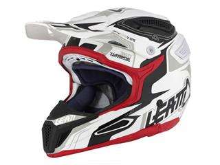 LEATT GPX 5.5 Helmet Composite White/Black/Red Size XL  - 433447XL