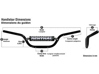 Guidon Ø22,2mm sans barre RENTHAL Road Ultra Low or