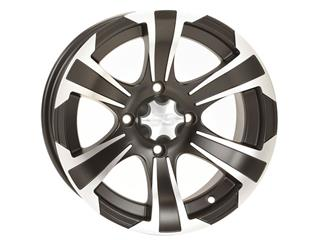 ITP SS312 12x7 4x156 4+3 Aluminum Utility Wheel Black / Silver