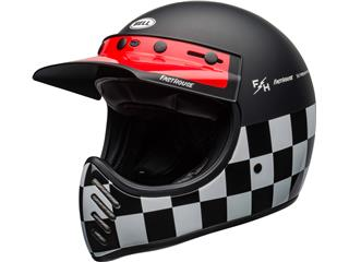 BELL Moto-3 Helmet Fasthouse Checkers Matte/Gloss Black/White/Red Size XS - 800000058067