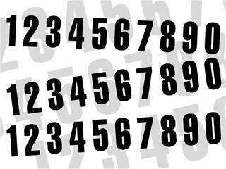 Kit numéros de course BLACKBIRD 0 à 9 130x70mm noir - 7870051