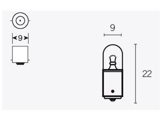 Boite de 10 ampoules V PARTS T8.5 12V-4w - 320087