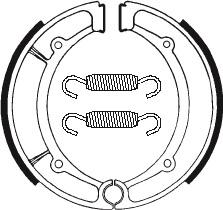 Machoires de frein TECNIUM BA066 organique