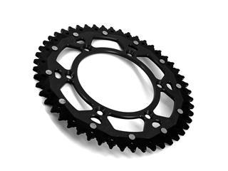 Couronne ART Bi-composants 50 dents aluminium/acier ultra-light anti-boue pas 520 type 460 noir - f603eac7-ef4f-42b5-8be0-3f9bc718795d