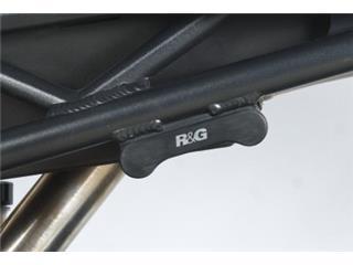 R&G RACING Rear Footrest Blanking Plate Black Triumph Daytona 675/R