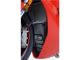 Protection de radiateur (eau & huile) R&G RACING alu noir Ducati Supersport 937