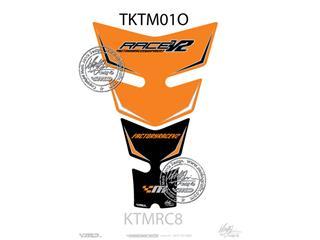 Protection de réservoir MOTOGRAFIX 2pcs orange/noir KTM RC8
