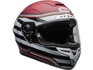 BELL Race Star Flex DLX Helmet RSD The Zone Matte/Gloss White/Candy Red Size M - f7d05185-cc4b-4268-ba5f-65ad963531ff
