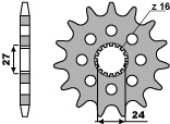 Pignon PBR 18 dents acier standard pas 530 type 2190 Suzuki Hayabusa, B-King