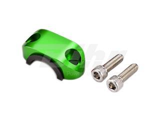 Abrazadera superior soporte maneta con goma ART verde