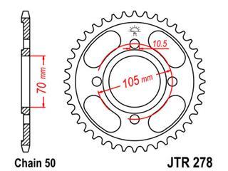 Couronne JT SPROCKETS 38 dents acier standard pas 530 type 278