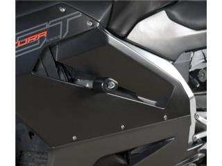 Tampons de protection R&G RACING Aero noir Aprilia RST1000 Futura