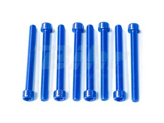 Kit parafusos allen cabeça cilíndrica  M6 x 60mm (10 pack) alumínio azul