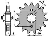 Pignon PBR 12 dents acier standard pas 520 type 718 Husqvarna CR125