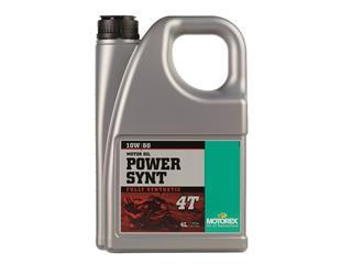Huile moteur MOTOREX Power Synt 4T 10W60 100% synthétique 4L
