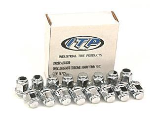 Kit écrou de roue ITP conique chrome 12/17mm - Box of 16