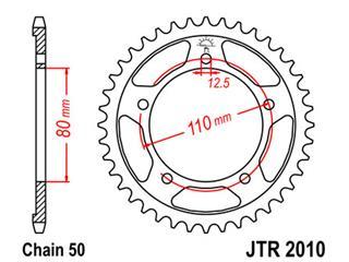 Couronne JT SPROCKETS 46 dents acier pas 530 type 2010 - 47201046