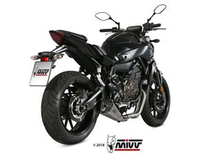 MIVV Delta Race Stainless Steel Full Exhaust System Stainless Steel Muffler/Carbon End Cap Yamaha MT-07