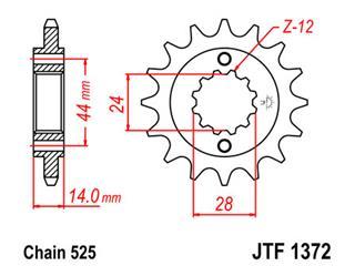Pignon JT SPROCKETS 17 dents acier pas 525 type 1372 - 46137217
