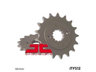 JT SPROCKETS Front Sprocket 15 Teeth Steel Standard 520 Pitch Type 512
