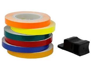 V PARTS 6m x 7mm Wheel Rim Tape Neon Red