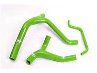 Durites de radiateur SAMCO kit transformation Y vert - 4 durites Kawasaki KX250F - 44070042