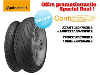 Train de pneus Sport-Touring CONTINENTAL ContiMotion (120/70 ZR 17 + 180/55 ZR 17)