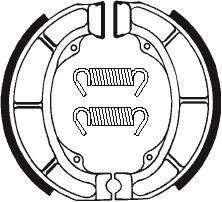 Machoires de frein TECNIUM BA181 organique