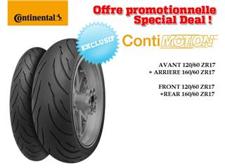 Train de pneus Sport-Touring CONTINENTAL ContiMotion (120/60 ZR 17 + 160/60 ZR 17)