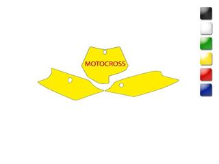 Fonds de plaque BLACKBIRD blanc KTM SX/SXF - 7855171