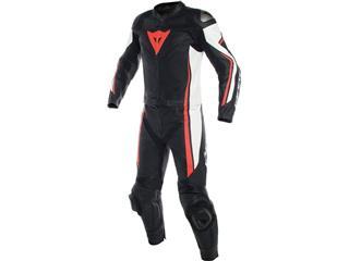 Leather Suit Dainese Assen 2Pcs Blk/Wht/Red Fluo Sz 48