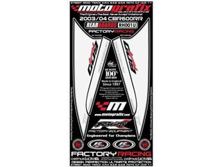 Kit déco arrière MOTOGRAFIX blanc Honda CBR600RR