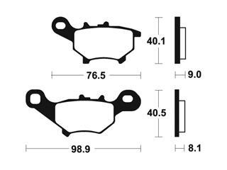 Brake pads Bendix MA374 Organic