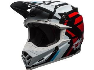 BELL Moto-9 Mips District Helmet Gloss White/Black/Red Size XS