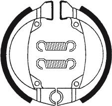 Machoires de frein TECNIUM BA193 organique