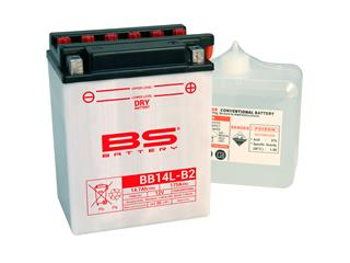Batterie BS BATTERY BB14L-A2 conventionnelle livrée avec pack acide - 321847